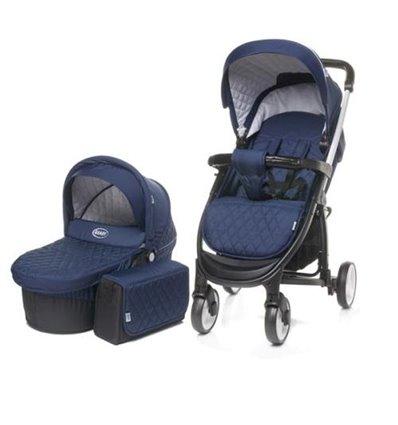 Дитяча універсальна коляска 2 в 1 4Baby Atomic Duo Blue