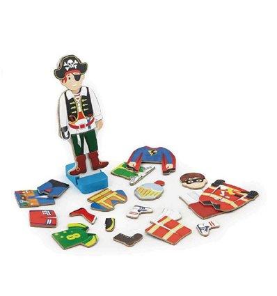 """Набір магнітів Viga Toys """"Гардероб хлопчика"""" (50021VG)"""
