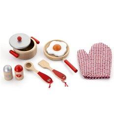 """Ігровий набір Viga Toys """"Маленький кухар"""", червоний (50721)"""