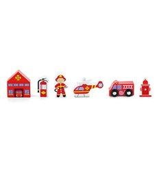 """Дод. набір до залізниці Viga Toys """"Пожежна станція"""" (50815)"""