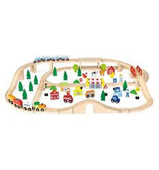 "Іграшка Viga Toys ""Залізниця"", 90 деталей (50998)"