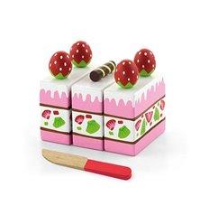 """Ігровий набір Viga Toys """"Полуничний торт"""" (51324)"""
