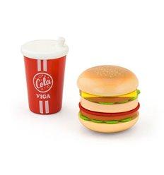 """Ігровий набір Viga Toys """"Гамбургер і кола"""" (51602)"""