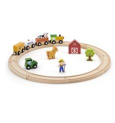 """Ігровий набір Viga Toys """"Залізниця"""", 19 деталей (51615)"""
