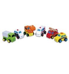 "Набор Viga Toys ""Міні-машинки"" 6 шт. (59621)"