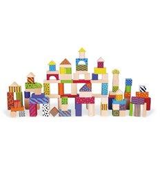 Набір будівельних блоків Viga Toys 100 шт., 3 см (59696)