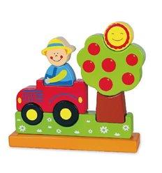 """Магнітний пазл Viga Toys """"Ферма"""" (59701)"""