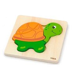 """Міні-пазл Viga Toys """"Черепаха"""" (59933)"""