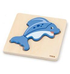 """Міні-пазл Viga Toys """"Рибка"""" (59934)"""