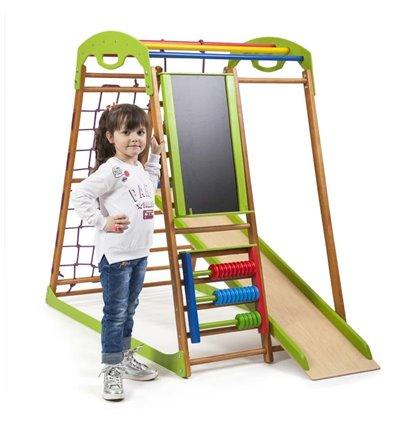 Дитячий спортивний комплекс для дому SportBaby BabyWood Plus