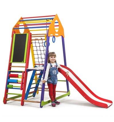 Дитячий спортивний комплекс для дому SportBaby BambinoWood Color Plus 3