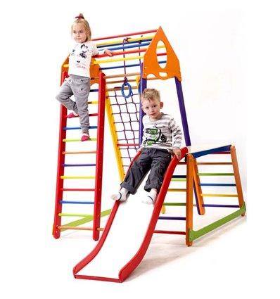 Дитячий спортивний комплекс для дому SportBaby BambinoWood Color Plus 1-1