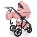 Дитяча коляска 2 в 1 Broco Capri еко шкіра рожева
