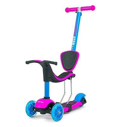 Самокат триколісний Milly Mally Scooter Little Star Pink-Blue
