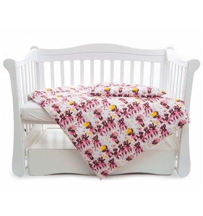 Дитяча змінна постіль Twins Comfort Line C-054 Балеринки рожева
