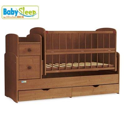 Дитяче ліжко-трансформер Baby Sleep Angela DTP-S-B Горіх