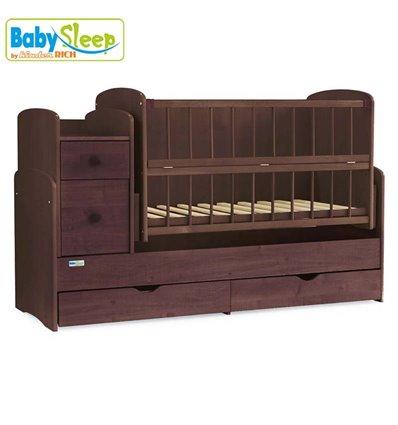 Дитяче ліжко-трансформер Baby Sleep Angela DTP-S-B Горіх темний