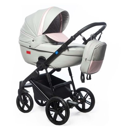Дитяча коляска 3 в 1 Broco Avenue 01 Grey-Pink