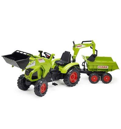 Трактор педальний з причіпом і 2 ковшами Falk 1010W Claas Axos