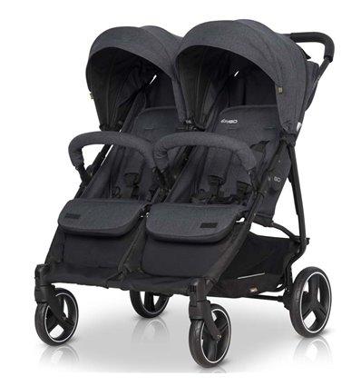 Прогулянкова коляска для двійні EasyGo Domino 2020 Coal