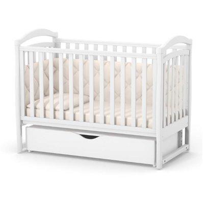 Дитяче ліжечко Верес Соня ЛД6 з маятником і шухлядою біле