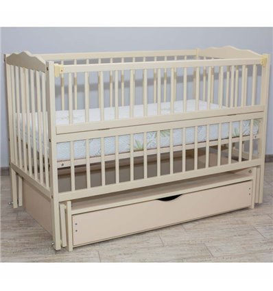 Дитяче ліжечко Дубик-М Веселка слонова кістка