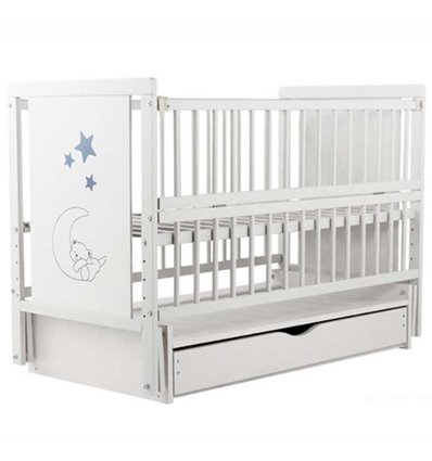 Дитяче ліжечко Дубик-М Ведмедик біле