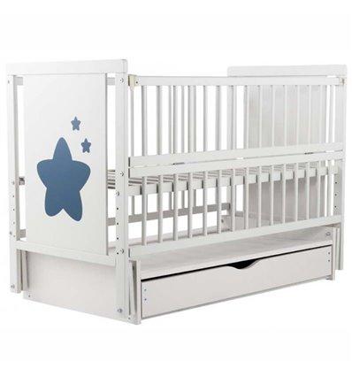 Дитяче ліжечко Дубик-М Зіронька біле