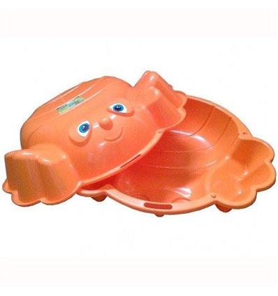Дитяча подвійна пісочниця KHW Kunststoff Краб Оранжевий