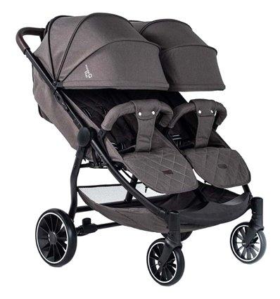 Прогулянкова коляска для двійні BubaGo Model Q Duo Brown