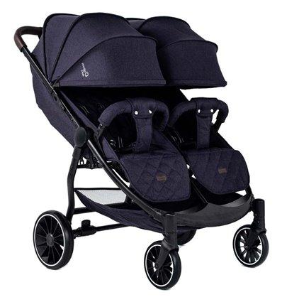 Прогулянкова коляска для двійні BubaGo Model Q Duo Purple