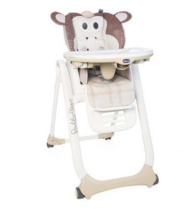 Стільчик для годування Chicco Polly 2 Start Monkey