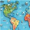Пазл магнітний Viga Toys Карта світу з маркерною дошкою, англійською мовою (44508EN)