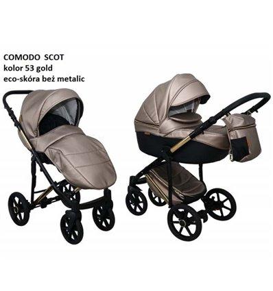 Дитяча коляска 2 в 1 Mikrus Comodo Mio Scot 53 beige metalic