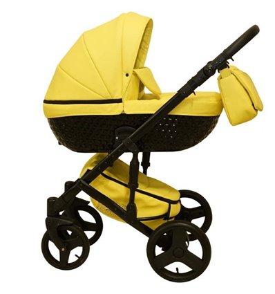 Дитяча коляска 2 в 1 Mikrus Specchio 49 Yellow