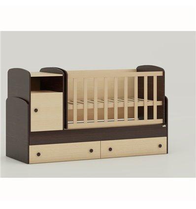 Дитяче ліжко-трансформер Oris Marica комбінований венге