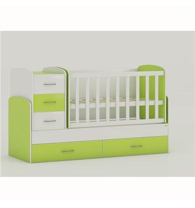 Дитяче ліжко-трансформер Oris Maya біло-зелений