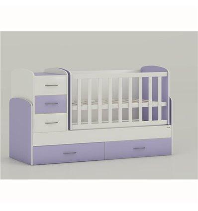 Дитяче ліжко-трансформер Oris Maya біло-ліловий