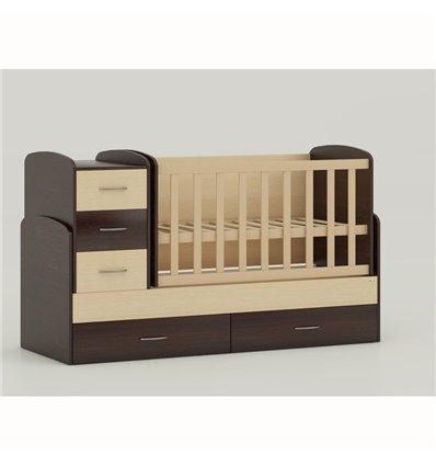 Дитяче ліжко-трансформер Oris Maya комбінований венге