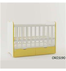 Ліжечко для новонародженого Oris Fiona біло-жовтий