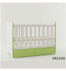 Ліжечко для новонародженого Oris Fiona біло-зелений