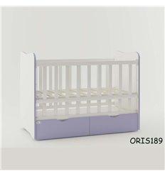 Ліжечко для новонародженого Oris Fiona біло-ліловий