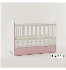 Ліжечко для новонародженого Oris Fiona біло-розовий