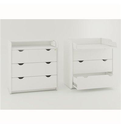 Комод-пеленатор Oris на 3 ящики білий