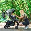 Дитяча прогулянкова коляска BubaGo Model 2 Dark grey