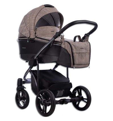 Дитяча коляска 2 в 1 Bebetto Bresso Premium Dark 01 коричнева