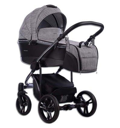 Дитяча коляска 2 в 1 Bebetto Bresso Premium Dark 02 сіра