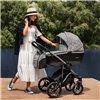 Дитяча коляска 2 в 1 Bebetto Bresso Premium Dark 03 червона