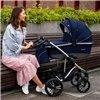 Дитяча коляска 2 в 1 Bebetto Bresso Premium Silver 01 чорна