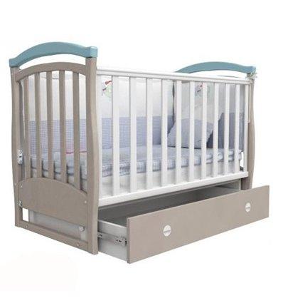 Ліжечко Верес ЛД6 з шухлядою і маятником 6.11 блакитний